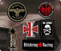 6x Stück Blitzkrieg Racing Sticker Aufkleber Autocollante Hot Rod Old School S2