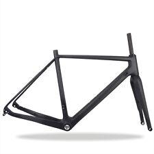 49/52/54/56/58cm Carbon Cyclocross Bike Frame with Fork BSA UD Matte