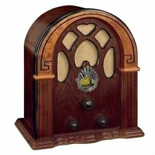 Vintage Wooden Radio Antique Old Fashioned Retro Nostalgic FM Cathedral Gift Vtg
