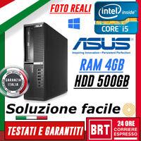 PC COMPUTER FISSO DESKTOP ASUS BP6335 SFF CPU I5 3° RAM 4GB HDD 500GB+WIN10 PRO!