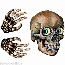 Window Sticker Skull Head - Halloween Decoration Party 3d Stickers Horror Hands