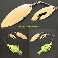 Bassdozer spinnerbaits BIG WILLOW DOUBLE CHARTREUSE WHITE spinner bait baits