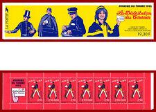 France 1993 carnet Journée du timbre, facteurs ** MNH, BC2794, non-plié