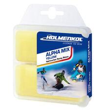 Holmenkol Alphamix Jaune 2x35g Basique Cire Chaude Alpine Nordique Snowboard