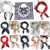 Satin 70X70cm Kerchief Headband Bandana Scarf Silky Turban Wrap Hair Accessories