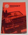 Operating Instructions Manual MG Midget Mk III, Year of Construction 1966 - 1974