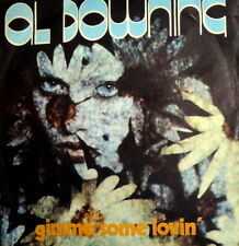 """GIMME SOME LOVIN'  AL DOWNING 7"""" ITALY PS 1975 THE WHOLE WORLD'S GONE FUNKY"""
