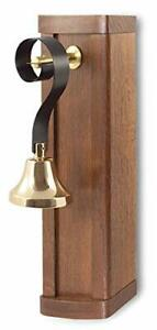 Retro Style Butlers Bell, Mahogany and Brass