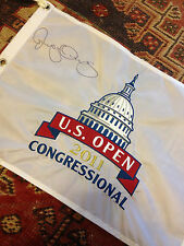 2011 US Open OFFICIAL(Congressional) EMBROIDERED Flag Rory McIlroy Hand Signed