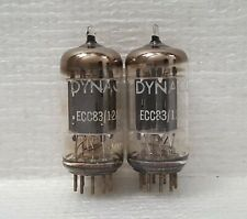 Pair Dynaco Telefunken  12ax7/ECC83 Vacuum Tubes : <> Bottom/Smooth Long Plates