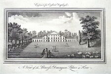 LONDON, KEW GARDENS, THE WHITE HOUSE, England Displayed Antique Print 1769