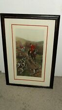 RARE Vintage Print Etching Gone Away by A C Havell Hunting Fox Scene 1902 London