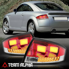 Fits 1999-2006 Audi TT <NEON TUBE LED BAR> Red/Clear Brake Lamp Rear Tail Light