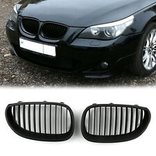 Matt Black Front Grille/Front Kidney Grill For 03-10 BMW E60 E61 5 Series