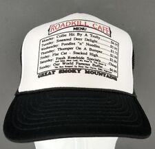 Roadkill Cafe Menu Trucker Snapback Hat Great Smoky Mountains Nissun Cap  Humor ae3caaab3dd7