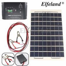Elfeland 10W 12V PolyCrystalline Cells Solar Panel & 4M Cable & 10A Controller
