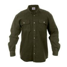 Rothco Long Sleeve Flannel Shirt - Olive Green (New) - Size Large 42inch chest