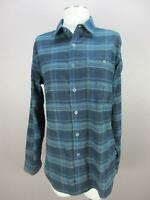 KUHL Size S Mens Navy Green Plaid Long Sleeve Button-Down Shirt 900