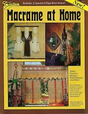 Macrame At Home Decor Craft Instruction Book #917 w/ Window Curtain Pattern Vtg