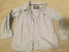Baby Boy H&M Thin Lift Blue Denim Style Shirt 9-12 Months 9-12m Elbow Patches