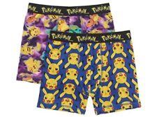 NEW x2 Pokemon Toddler Boys 4T XS Boxer Briefs Pikachu Bulbasaur Underwear