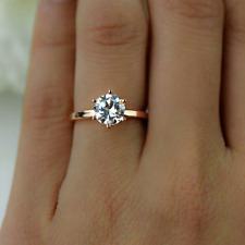 Ring Size O 9ct Gold Diamond Solitaire Gift Promise Engagement Holiday