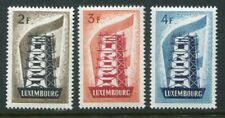 LUXEMBOURG 1956 EUROPA CEPT MNH Set 3 Stamps High Cat