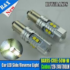 2x BAX9s 64132 H6W CREE LED Canbus parking lamp Light Bulb White Super Bright
