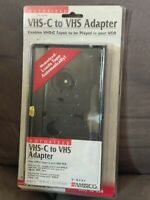AMBICO V-0731 MOTORIZED VIDEO CASSETTE ADAPTER VHS-C TO VHS VCR NEW OLD STOCK