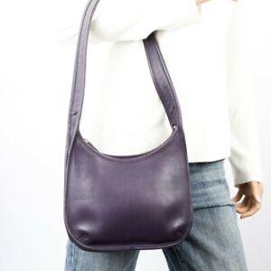 COACH Vintage Small Purple Eggplant Leather Ergo Shoulder Bag #9020