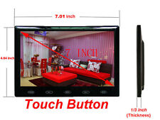 HD 7 Inch Ultra Thin TFT-LCD HD Monitor Audio Video HDMI VGA w/Speaker + Adpater