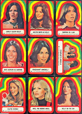 Charlie's Angels - Series 4 - Sticker Complete Card Set (11) - 1977 Topps - NM