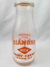 Diamond Dairy Milk Bottle - Salem NH 10 ounces  for Health Beauty Long Life