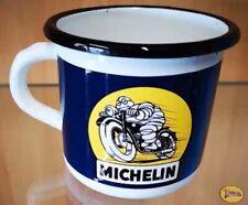 Tasse - Chope - Mug Emaile Emaille Acier Tole Michelin en Moto