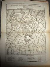 38 - CARTE MAP PLANS Campagne ITALIE 1745 & 1746  VILLE CITADELLE PARME 1775