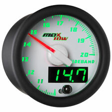 MaxTow 52mm White Wideband Air/Fuel Ratio AFR Gauge - MT-WDV02-WB