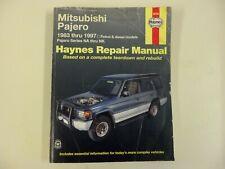 Haynes Car Repair Manual 68765 Mitsubishi Pajero 1983-1996 Series NA-NK