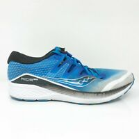 Saucony Mens Ride Iso S20444-1 Blue White Running Shoes Lace Up Low Top Size 10