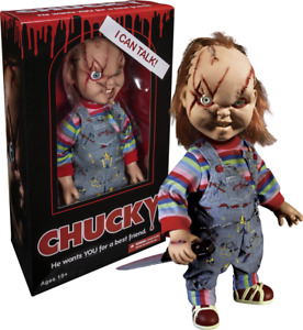 """Child's Play - Chucky 15"""" Talking Action Figure Scarred Good Guy Doll - NEW"""