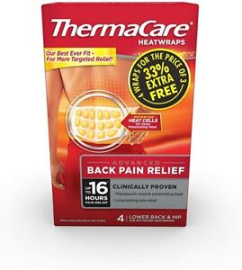 ThermaCare Lower Back Heat Wrap - Pack of 4 (F00573301029Z), Same Day Despatch