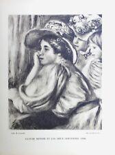 Pierre Auguste Renoir Heliogravure Limited Claude Renoir Et Les Servantes 1921