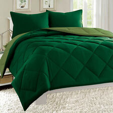 Empire 3pc Reversible Comforter Set Microfiber Quilted Bed Cover All Size Option
