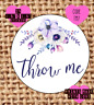 Throw me , wedding confetti stickers , labels , party , floral TM7
