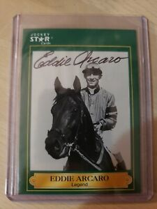 Eddie Arcaro, Autographed 1991 Jockey Star Card #8 (VG) Only 1 on Ebay!!