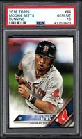 2016 Topps #84 MOOKIE BETTS RC Running PSA 10 GEM MINT