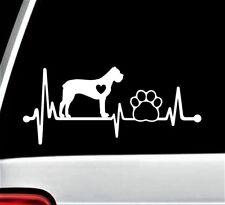 Cane Corso Heartbeat Lifeline Paw Decal Sticker for Car Window 8 Inch Bg 207