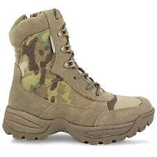 Side Zip Tactical Military Army Combat Assault Cadet Desert Boots Multicam MTP