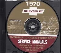 1970 Chevy CD Shop Manual Camaro Nova Corvette Impala Caprice Biscayne Chevrolet
