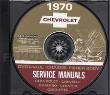 1970 Chevy CD Shop Manual Camaro Nova Corvette Impala Caprice Biscayne Chevrolet