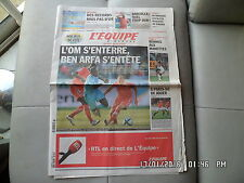 L'EQUIPE DU 15/08/2010 Marseille OM Ben Arfa Barcella Rennes  J55